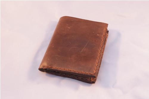 Pánská kožená peněženka, hnědé obšití
