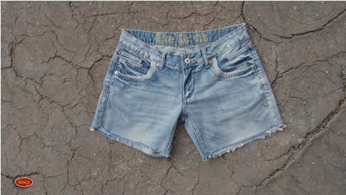 recy světlé džínové kraťasy, EXE