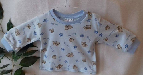 Košilka světle modrá - medvídek