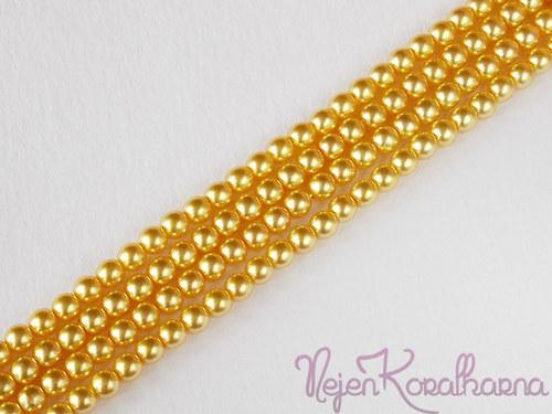 Voskové perle žlutá 4mm