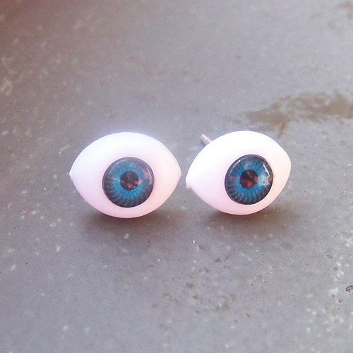 Náušnice modré oči