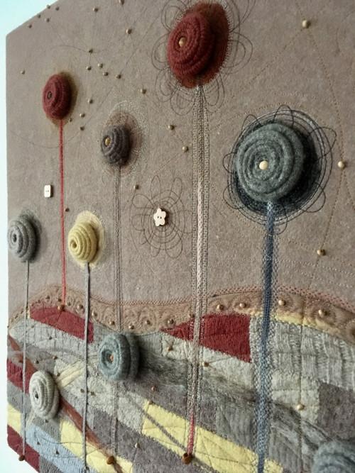 Vlnený textilný obraz