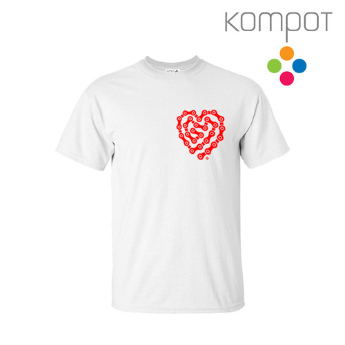 Pánské tričko CYKLOSRDCE :: bílé, vel. S-2XL