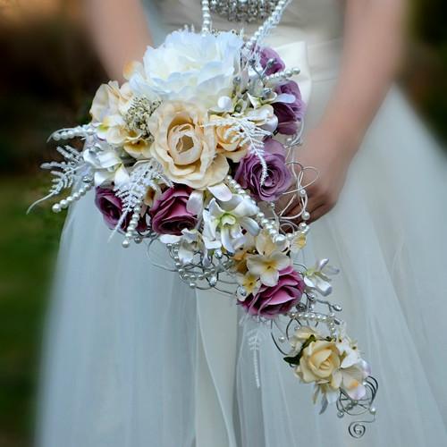 Svatební kytice Tanja + korsáž