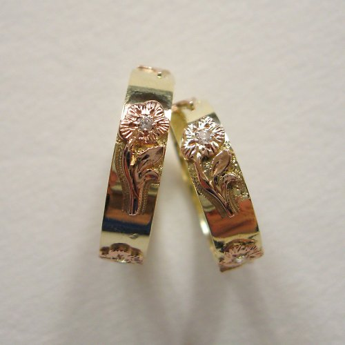 Svatební květiny (snubní prsteny, Au 585/1000)