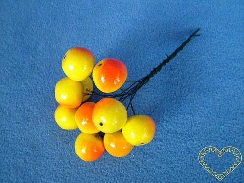 Jablko 14 x 16 mm - 10 kusů vatových plodů