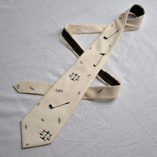 Golfovo-právnická kravata na přání