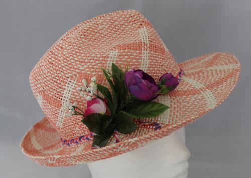 Letní  klobouk růžový