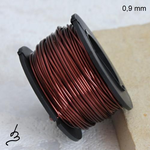 Měděný drát 0,9 mm lakovaný - 10 m