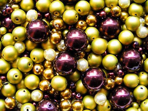 Voskové perle - kiwi v čokoládě - směs
