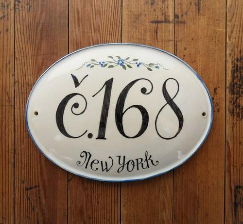 Domovní číslo na zakázku - New York