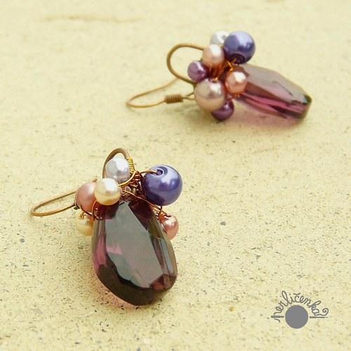 Fialové perlovky