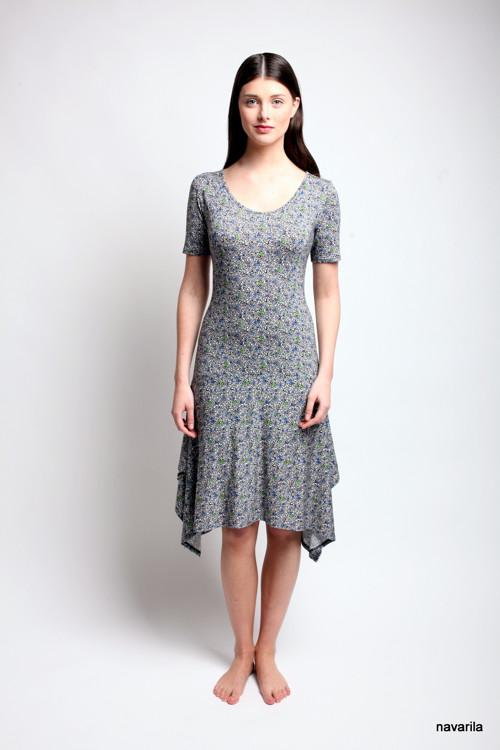 letní šaty NURY s drobným vzorem