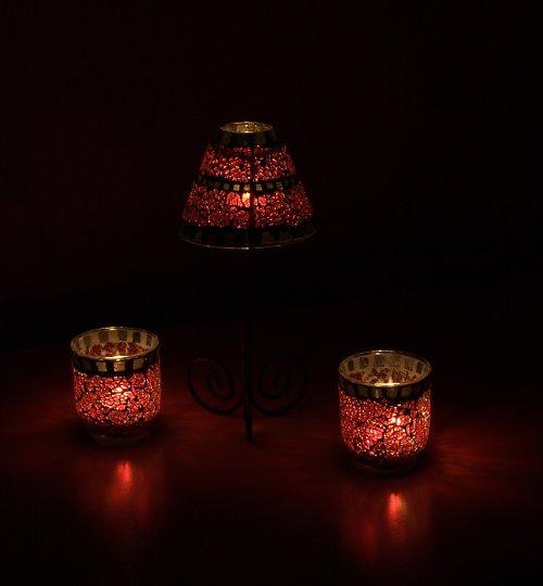 Souprava svícnů na čajové svíčky