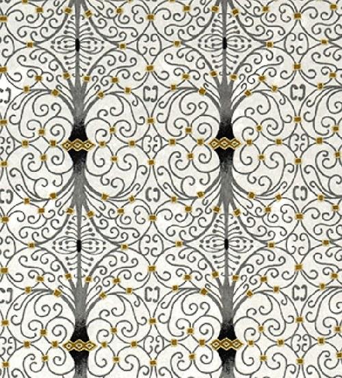 Handmade papír - Šedé spirály