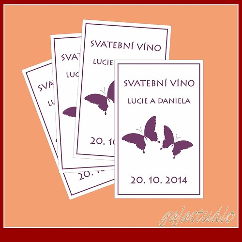Etiketka na svatební víno NO_5