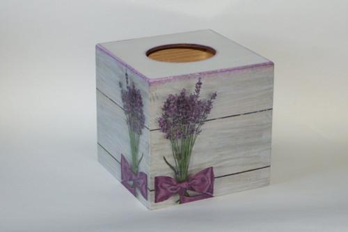 Dřevěná krabička na kapesníky čtvercová - motiv le