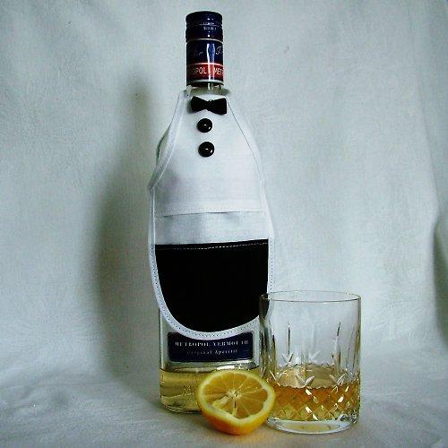 """Zástěrka na láhev \""""Číšník\"""""""
