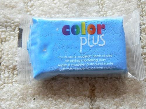 Samoschnoucí hmota Color Plus světle modrá 75g