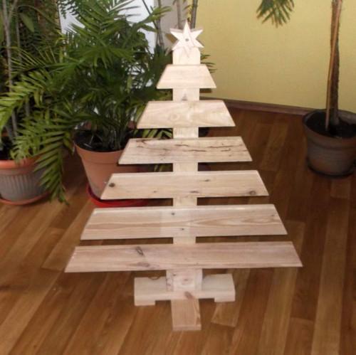 Stromeček vánoční-paletový-placatý