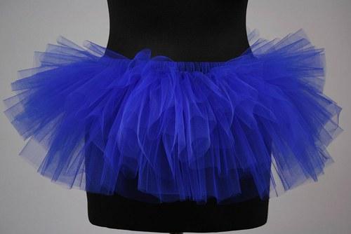 Tylová sukně tmavě modrá