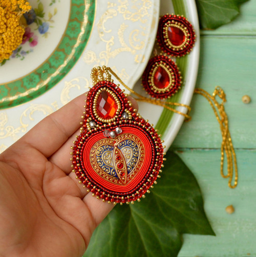 Voyage en Arabie - Red folk -  sada šperků