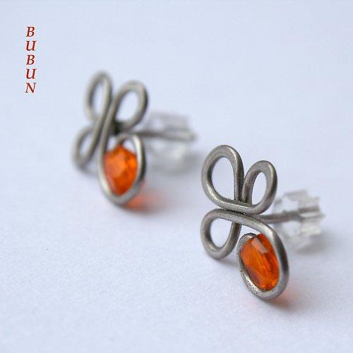 Pomerančové bodové čtyřlístky