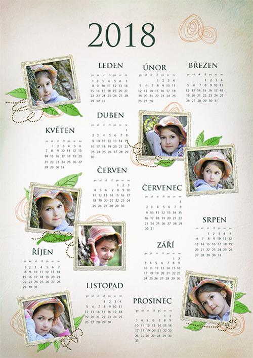 Jednolistý kalendář 2018