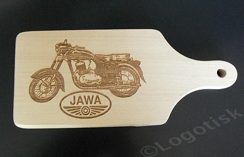 Dřevěné prkénko pro fandy Jawa 250