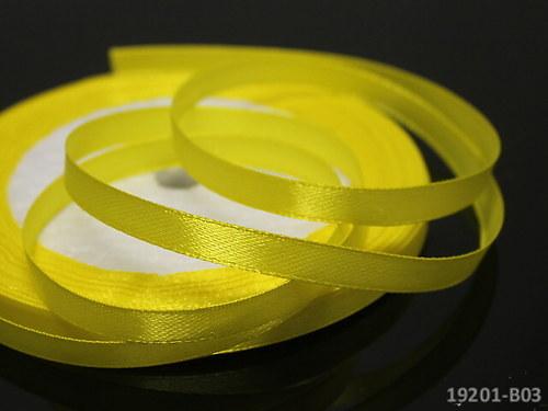 19201-B03 Stuha satén 6mm žlutá, svazek 5m