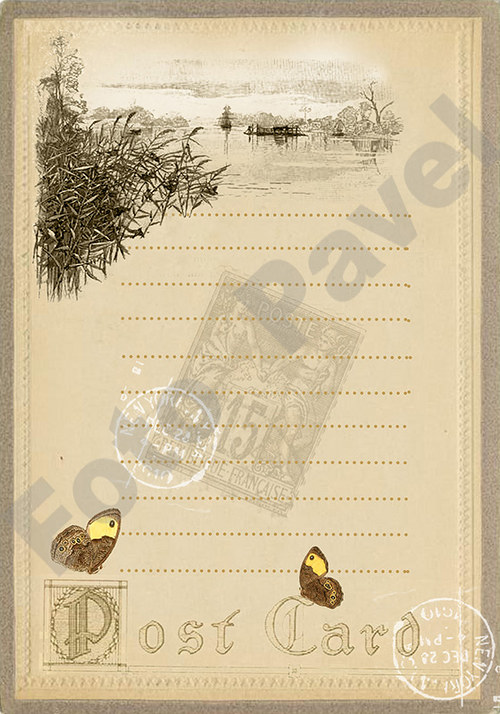 Vintage motiv -  Kartička poštovní4