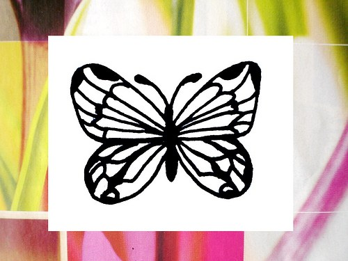 Motýlek 1... Omyvatelné razítko.