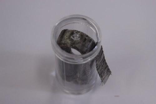 Drátěná dutinka 10-12mm, šedá - 1m