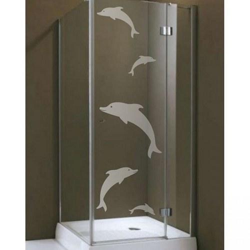 (145g) Nálepka na sprchovací kút - Delfiny