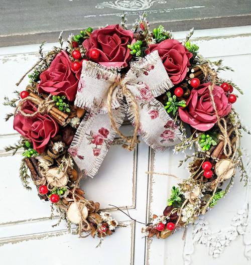 Anglické růže, otevřený věneček