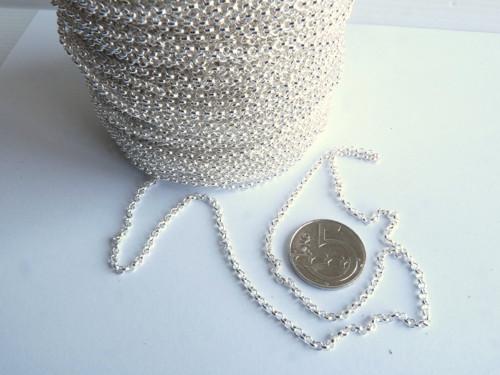 Dekorační řetízek - ankr  - stříbrná b.