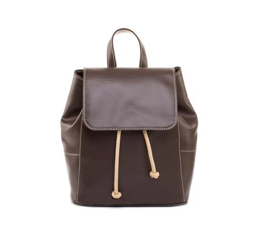 Dámsky módny ruksak 8659k v hnedej farbe