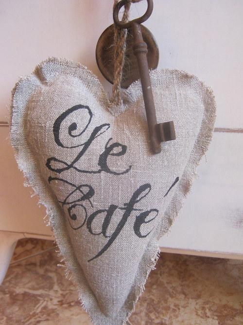Srdíčko -dekorace-Le café