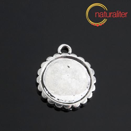 Lůžko kruh 16mm starostříbro, ozdobné, 2. jakost