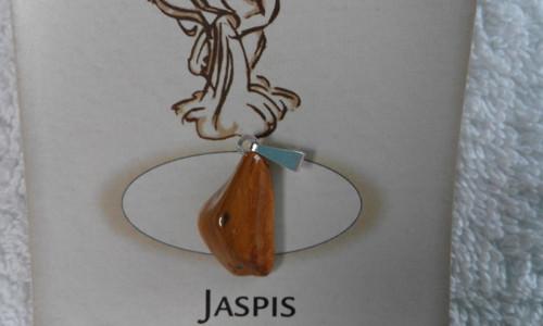 Jaspis - tromlovaný kamínek, přívěsek č.4