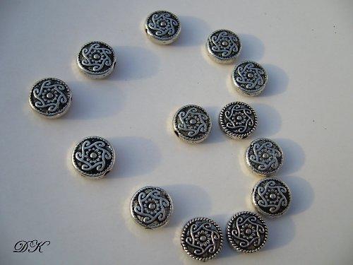 kovové - korálky - 10 ks