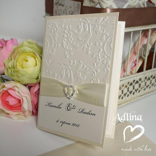 svatební oznámení_zamilovaně smetanové