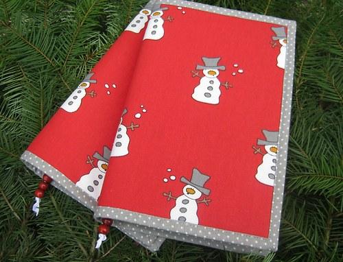 Zábavné čtení se sněhuláky....obal na knihu
