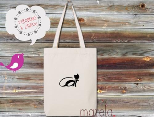 Plátěná taška Jsem kočka