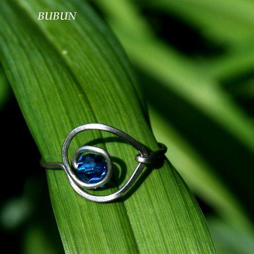 Prsten - Modrá kapka