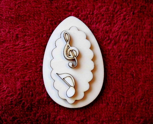 3D zápich na špejli vejce+2 notičky -3ks