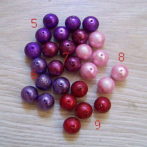 vroubkované voskové perly/ bordó č.9/ 12mm/ 5ks