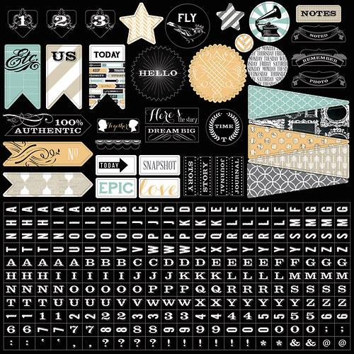 Memorabilia: 12x12 Sticker Sheet - samolepky