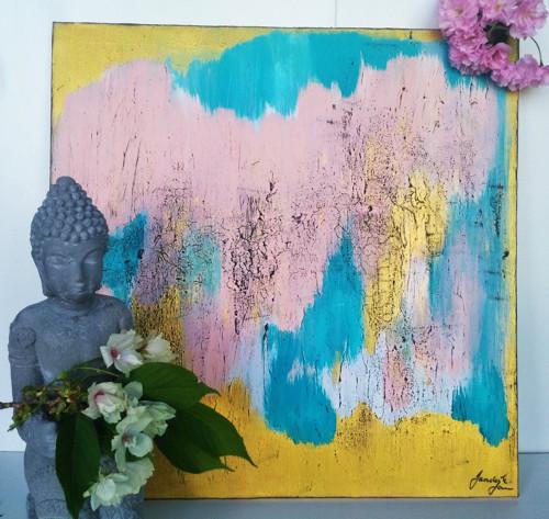 NĚHA - abstrakce na plátně