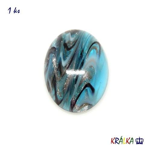 Kabošon oválný exkluziv modrý